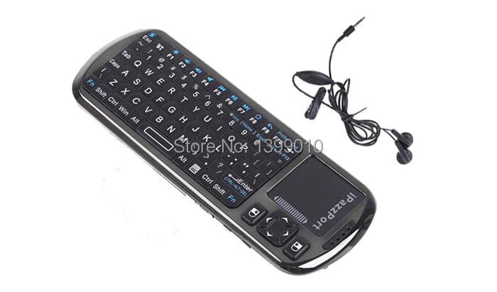 iPazzPort Google TV remote control voice Mini Bluetooth Keyboard for Android 4.0 mobile phoneTablet Car PC, PC Remote(China (Mainland))