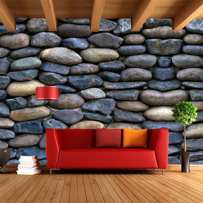 Free Shipping Large mural TV background wallpaper living room sofa 3D stereo KTV bar cafe culture stone wallpaper mural(China (Mainland))