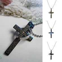 2016 High Quality Men's Jewelry Bible Cross Circle Pendant Necklace Chain Fine Jewerly for Women Accessory