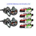 4x 2204 2300KV Brushelss Motor for QAV 250 210 180 220 Quadcopter 4xRacerstar RS20A Lite 20A