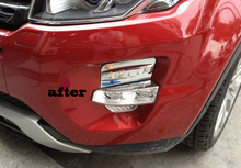 Buy front fog lamp head fog light cover trim fit RANGE ROVER EVOQUE 2011 2012 2013 2014 abs chrome 4pcs per set for $34.31 in AliExpress store
