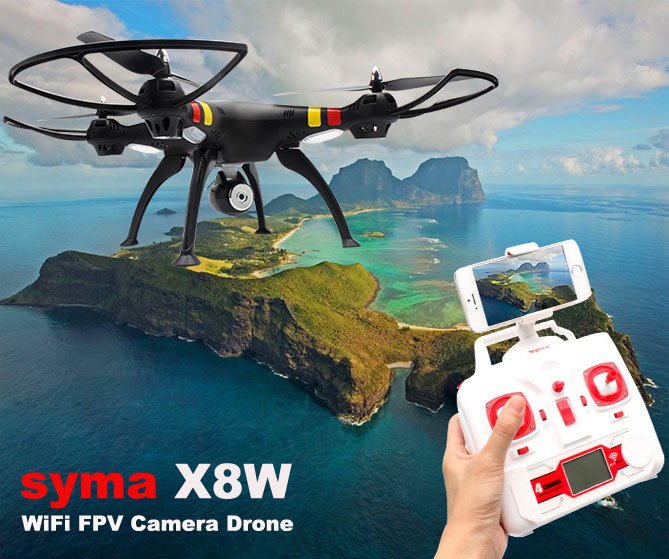 First Person View Quadcopter with 2MP Wide Angle Camera HD X8W-1 RC Drone with WiFi FPV<br>