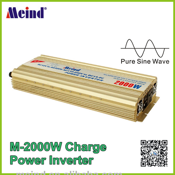 2000W Power Inverter Pure Sine Wave 12V DC to 220V AC Converter Car inverters AC Adapter Power Supply Meind Dropshipping(China (Mainland))