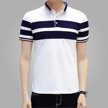 2016 New Men Polo Shirt Classic Striped Casual Mens Polo Shirt brands Short Sleeve Breathable Cotton Fashion Camisa Men's Polos