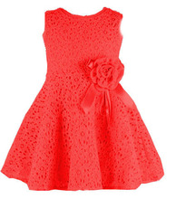 2014 summer new girls dress/Elegant princess dress with flower/Fashion lace dress(China (Mainland))