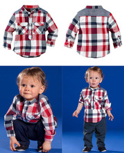 2014 autumn children s boy clothing set plaid T shirt casual pants kids suits kids sets