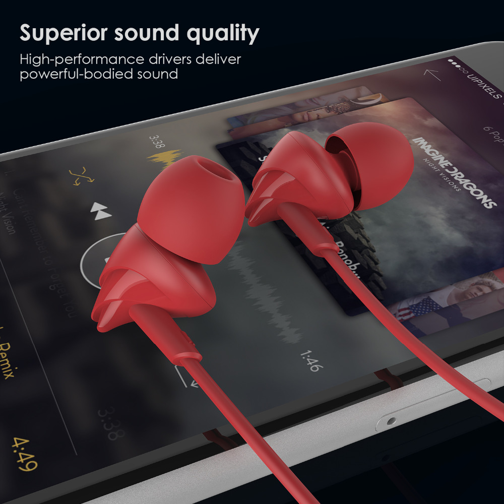 Cute Bird Earphones UiiSii C200 Earbuds with Microphone Stereo for iPhone 5/6/6S Samsung Huawei Xiaomi LG iPad Tablet MP3 Player(China (Mainland))