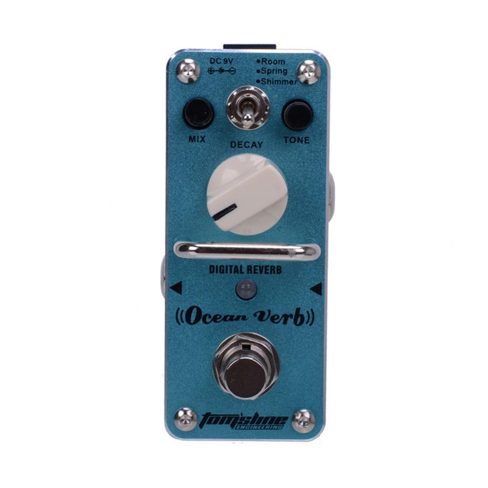 Aroma Aov 3 Ocean Verb Digital Reverb Guitar Effects Pedal