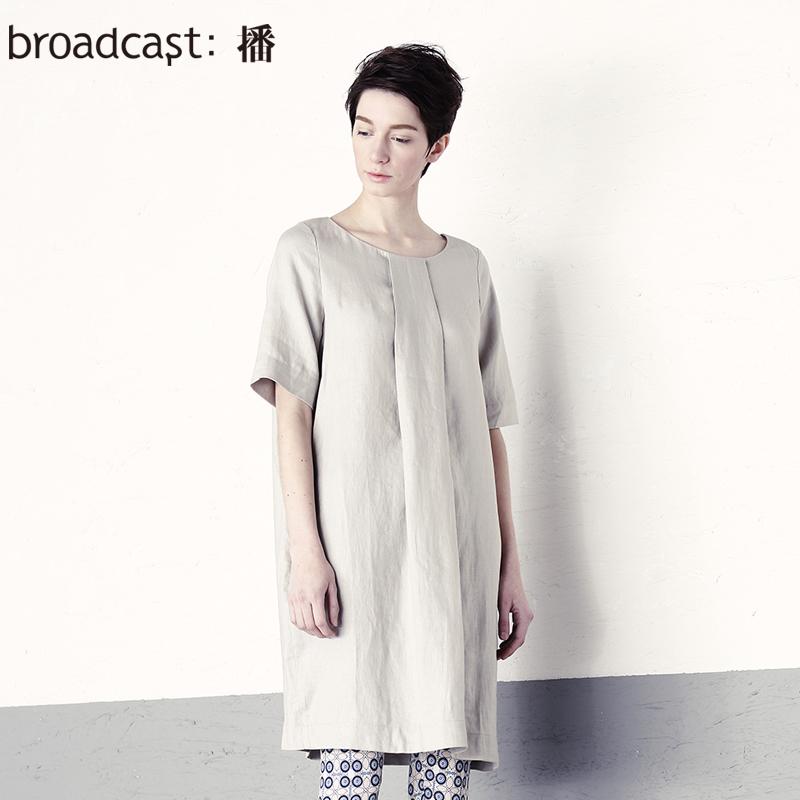 free shipping broadcast summer short-sleeve women's mid waist medium one-piece dress women dress lady dress BDH2LF0461(China (Mainland))