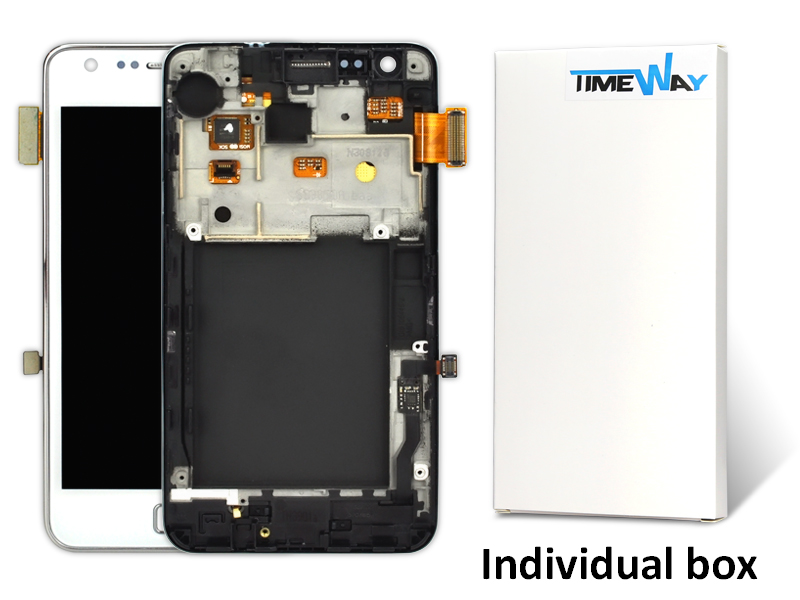Direct Selling Rushed 2 Pcs Lcd Display With Touch Screen Digitizer With Frame Assembly For Samsung S1 I9000 Free Shipping(China (Mainland))