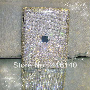 FREE SHIPPING tablet sleeve for iPad 4 3 2 smart cover bling rhinestone case Luxury package for apple iPad