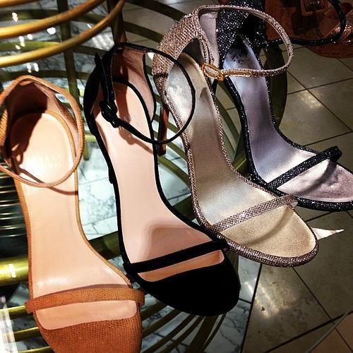 Nudist Ankle-Strap Sandals Summer Style Quality Gladiator Sandalias T-strap Wonder Land Glitter High Heels Stilettos Shoes Woman