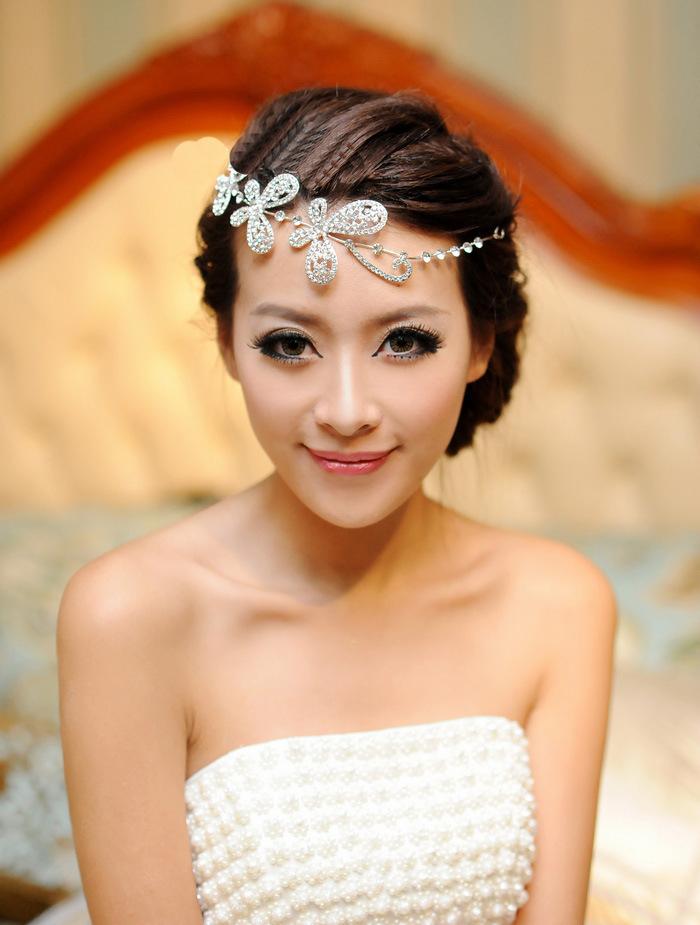 Princess Party Bridal Wedding Hair Accessories Decorations Austrian Crystal Tiara Flower Women ...