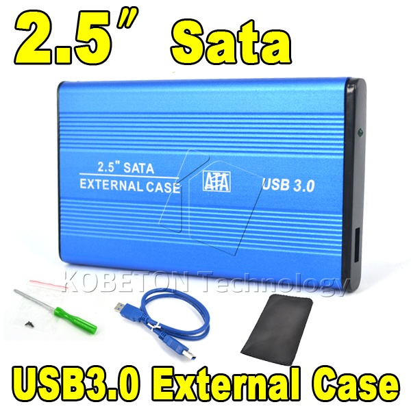 "2015 Hot Portable USB 3.0 to SATA 2.5"" HDD External Enclosure USB3.0 Hard Disk Drive Case Box for PC Computer Laptop Notebook(China (Mainland))"