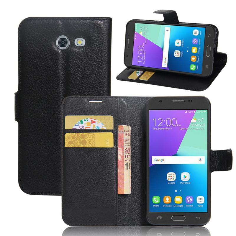 Luxury Wallet PU Leather Flip Cover For Samsung Galaxy J3 2017 J320 Case Stand Card fundas For Galaxy J3 Emerg Mobile Phone Bags(China (Mainland))