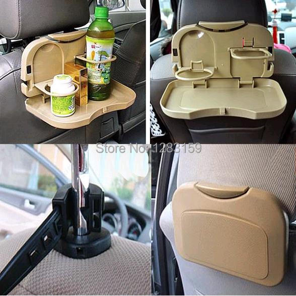 V115 Free Shipping Foldable Car Auto Food Meal Drink Tray Desk Dining Table Water Cup Stand Holder(China (Mainland))