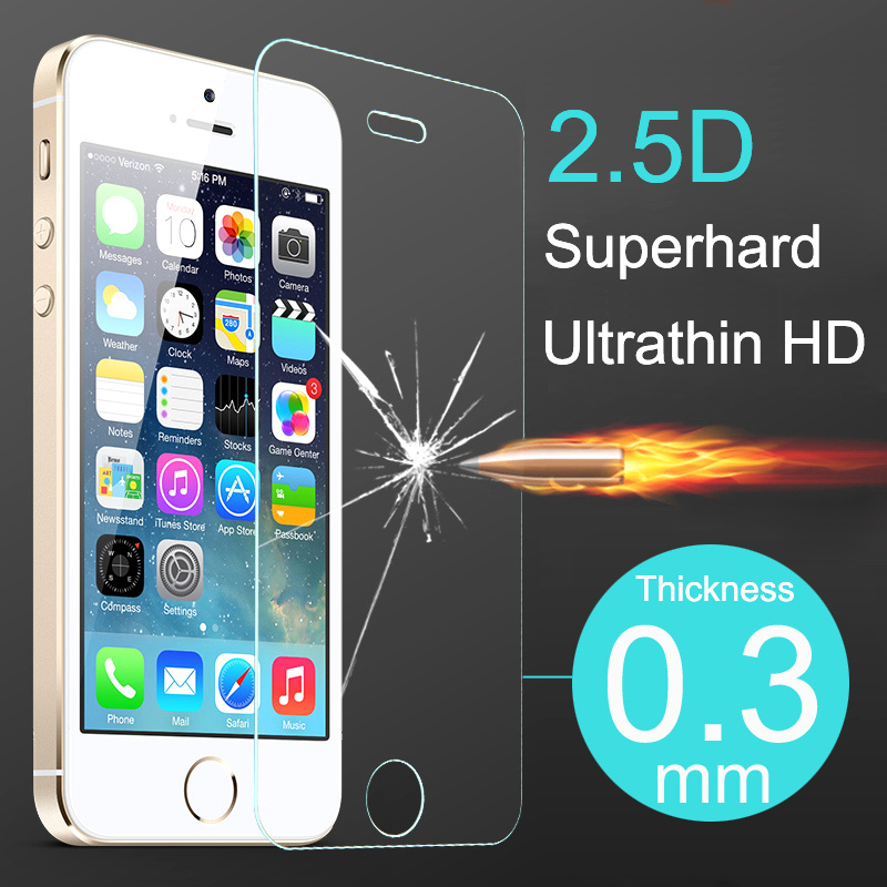 2.5D Ultrathin Premium Tempered Glass Screen Protector iphone 5 5s 5c Protective Film Case iPhone - Shenzhen RongBin Trading Co., Ltd store