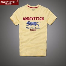 Anjoyfitch&kevin af 2016 summer t shirt men 100% cotton embroidery pattern short sleeve(China (Mainland))