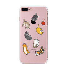 Buy USLION Cute Cartoon Cat Case iPhone 7 Ultrathin Transparent Soft TPU Phone Cases Back Cover iPhone7 5 5s SE 6 6s Plus for $1.26 in AliExpress store