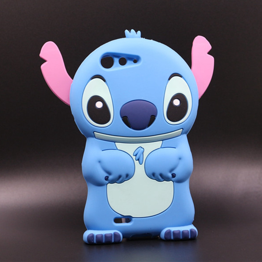Case For <font><b>ZTE</b></font> <font><b>Blade</b></font> <font><b>D6</b></font> V6/ L2 Plus L3 L3 Apex New Arrive Cartoon Soft Silicon Rubber Cute 3D Blue Stitch Back Protective Cover