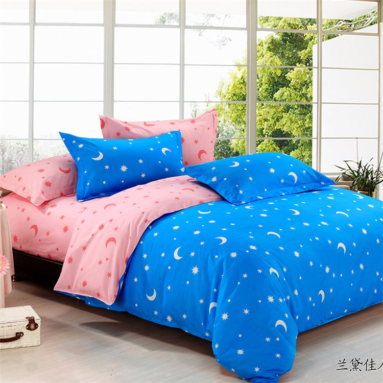 free shipping stars and moon pattern bed set bedding set