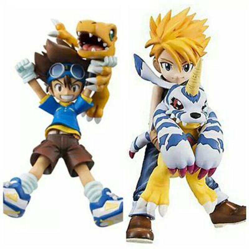 Japanese anime figure Digimon Adventure YAGAMI TAICHI Agumon SHIDA YAMATO action figure Digital Monster Doll model kids toys(China (Mainland))