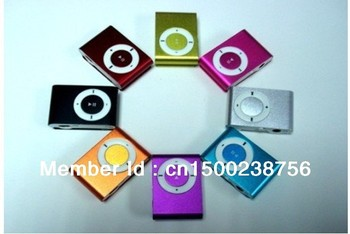free shipping promotion MINI Flash Gift clip MP3 Player with 8 color support 8GB Micro SD(TF) card slim mp3 music player