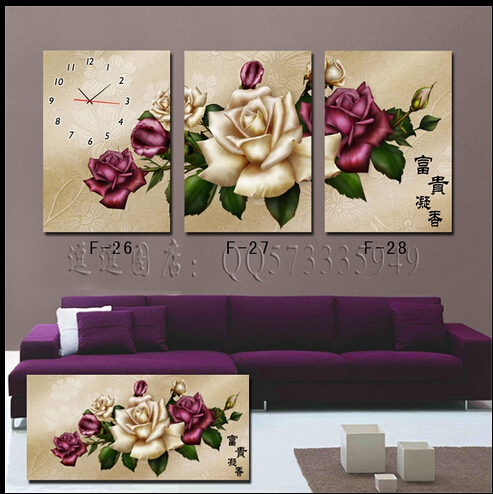 Picture Spray Painting Pictures 2015 30x40 Oil Wall Art Painting Canvas Flower New Hot Sale No Quadros De Parede Sala Estar F004(China (Mainland))
