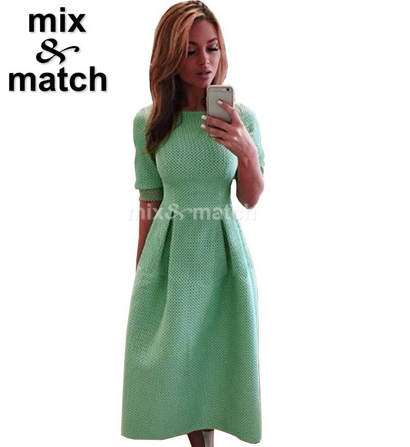 Spring Autumn New Women Dress Round-neck Long-sleeve Ball gown Slim Jersey Dress Green Color Cute style Long Dress DR11941(China (Mainland))