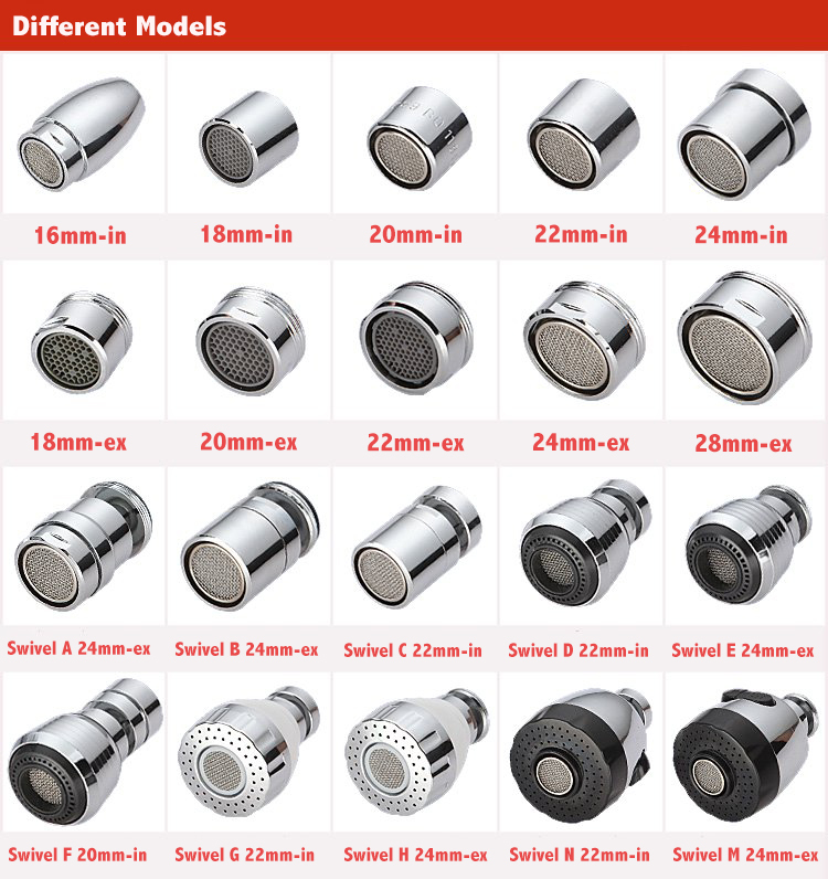 1pc Silver Water Bubbler Swivel Head Copper Faucet Aerator Connector Tap Faucet Accessories(China (Mainland))