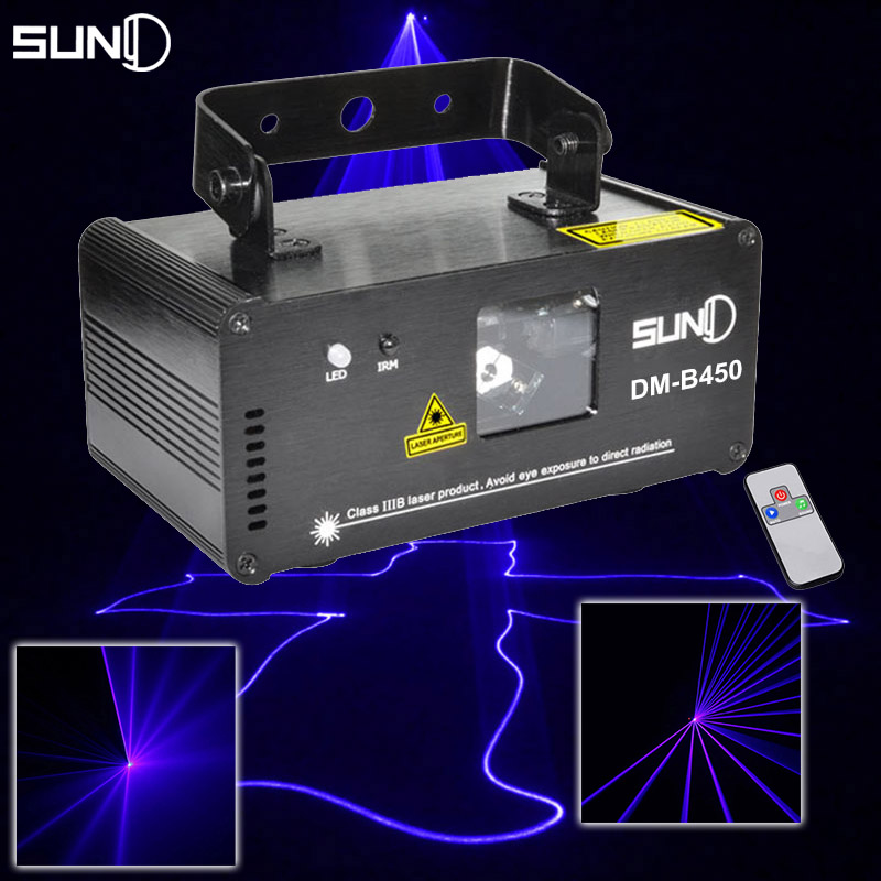 Buy suny dmx512 450mw blue dj laser for Home lighting effects