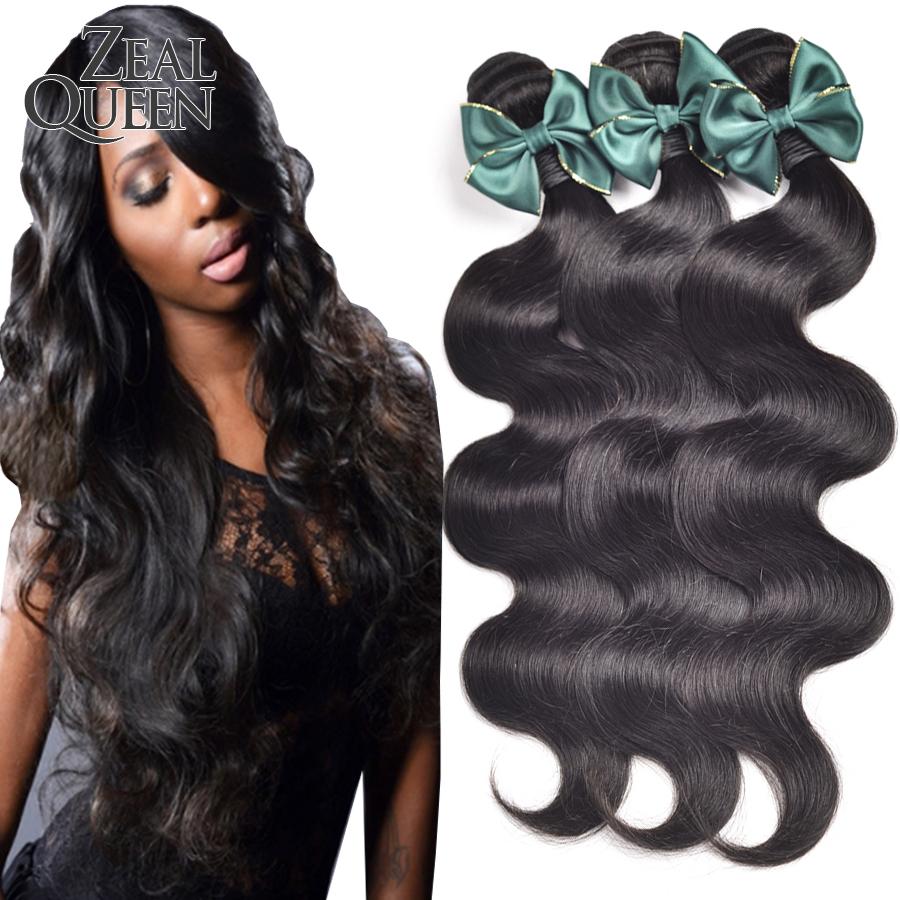 Zeal Queen Hair Products 6A Eurasian Hair Body Wave 3Pcs Unprocessed Eurasian Virgin Hair Body Wave Virgin Hair Bundle Deals
