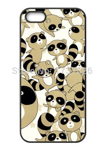 The Cartoon Raccoon Super Cute custom design hard plastic mobile cell phone bags case cover for iphone 4 4s 5 5s 5c 6 plus(China (Mainland))