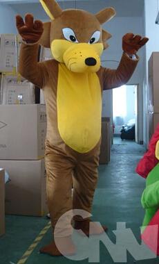 Mascot Wolf Costume Walking Cartoon Costumes Plush Animal Mascot Costume CTN180(China (Mainland))