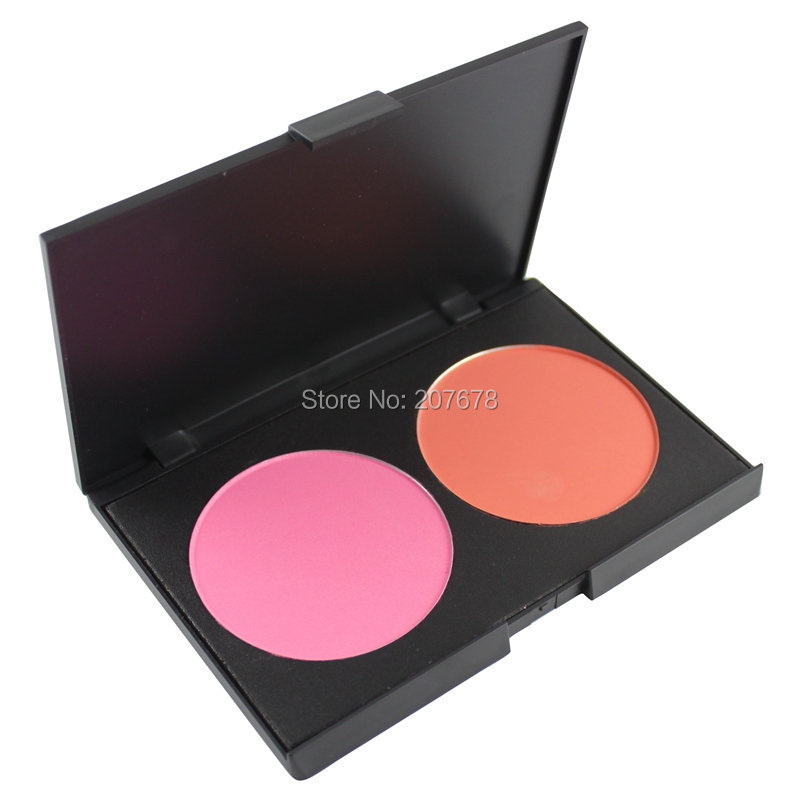 Free Shiping Beauty Product Series-- Wonderful Leading-the-trend 2 Color Makeup Blush Face Blusher Powder Palette Cosmetic(China (Mainland))
