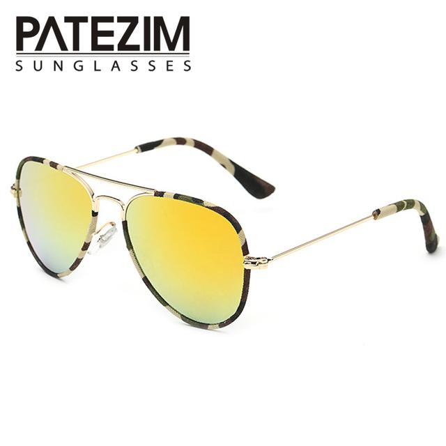Дети поляризованные пилотные очки прохладный красочные уф-гель 400 детей лучей очки ...