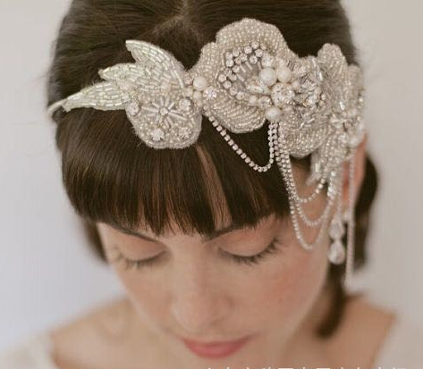 2015 New style luxury diamond pearl tiara wedding hair accessories crystal head decorations bridal headbands headdress