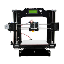2016 Geeetech New Upgraded Quality High Precision Reprap Prusa I3 -X DIY Full Acrylic 3d Printer Kits Free LCD