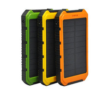 Power Bank Portable Waterproof solar power pack Dual-USB Solar Charger Panel Battery for All Mobile Phone(China (Mainland))