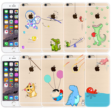 Buy Clear Transparent soft Silicone phone Case for IPhone 6 6s Funny animals shockproof cover for iphone 6 6s plus case coque fundas for $1.49 in AliExpress store