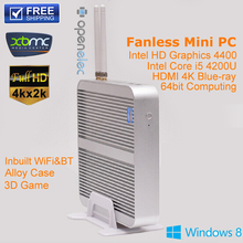Mini PC Windows 7/10 HDMI Intel NUC i5 8G RAM 64G SSD Fanless PC HTPC Thin Client 3years Warranty Network Computer Linux Car PC(China (Mainland))