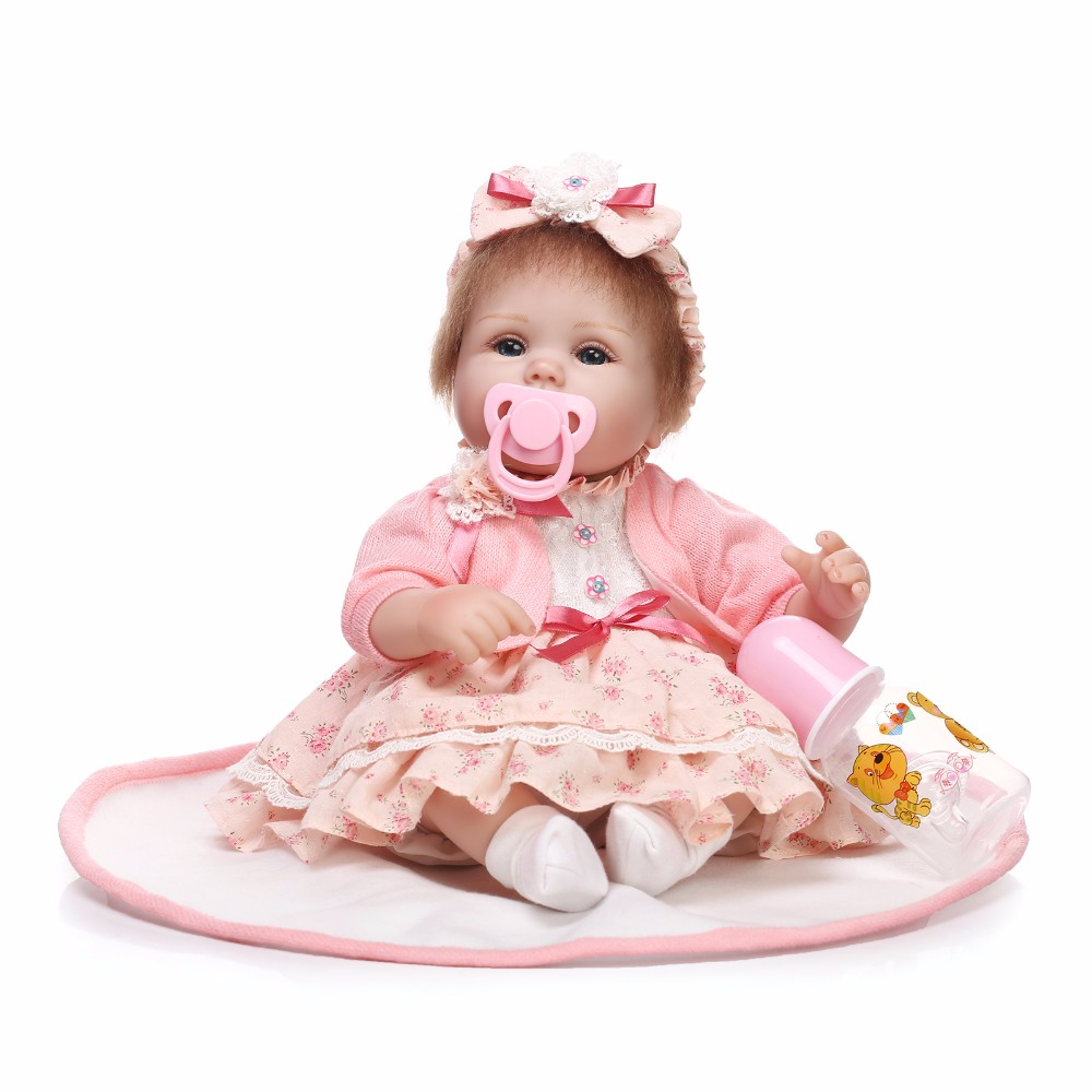 Reborn Baby Doll Real Silicone Doll Kids Toys Girls Bebes