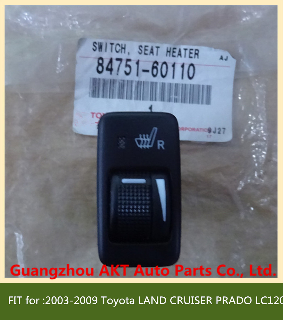 SWITCH, SEAT HEATER fit for :2003-2009 Toyota LAND CRUISER PRADO LC120 OEM: 84751-60110 8475160110   Passenger Side<br><br>Aliexpress