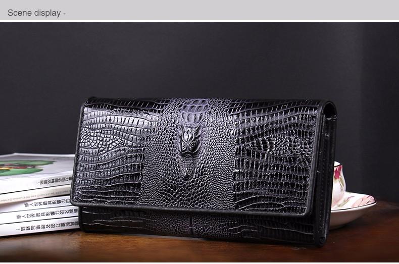guarantee genuine leather ladies women wallets purse long