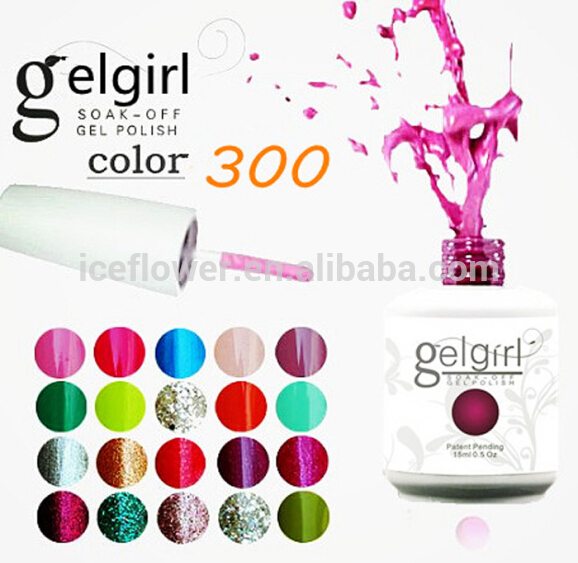 15ml 12 bottles/lot Factory price !!! gel nail polish 300 colors 15ml soak off  long lasting uv nail gel polish