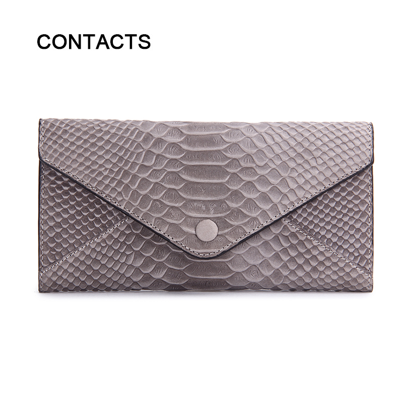 2016 New High Quality Genuine Leather Womens Wallets Purse Clutch Long Iphone Wallet Case Card Holder Zipper Design for Safe(China (Mainland))