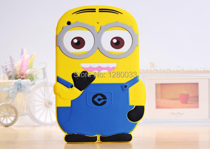 +for Apple ipad mini Despicable soft rubber silicone 3D minion cases covers air 1 2 - Orange Mobile store