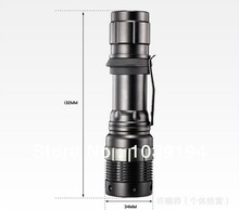 200Lumens bicycle riding  High Power Torch Zoomable LED Flashlight Torch light For 3xAAA or 1x18650 free shipping(China (Mainland))