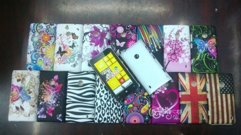 10pcs Free shipping Flower UK USA flag plastic Case Cover For Nokia Lumia N520 520