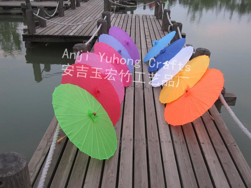 Free shipping 80pcs/lot wedding umbrella silk parasol with several colors available(China (Mainland))